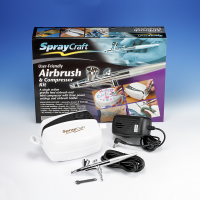 Spraycraft SP30KC Gravity Feed Airbrush & Compressor Kit