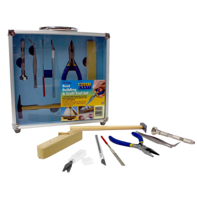Modelcraft 12 Pce Boat Building & craft Tool Set
