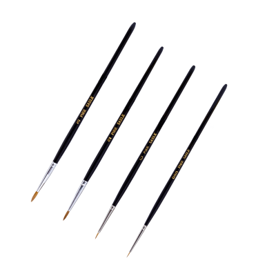 Modelcraft Fine Quality Pure Sable Brush Set (Size 000, 0, 2 &3)