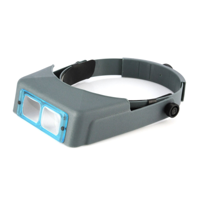 OptiVISOR Head Band Handsfree Magnifier Visor (2x)