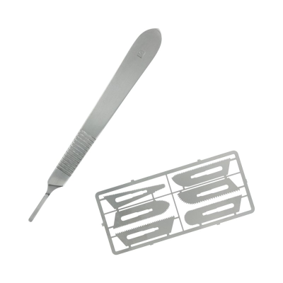 Modelcraft Precision Saw Set (0.24mm) with Scalpel Handle