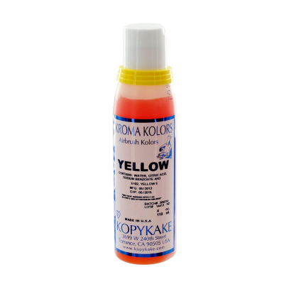 Kopykake Airbrush Colour - Yellow (118ml/4oz)