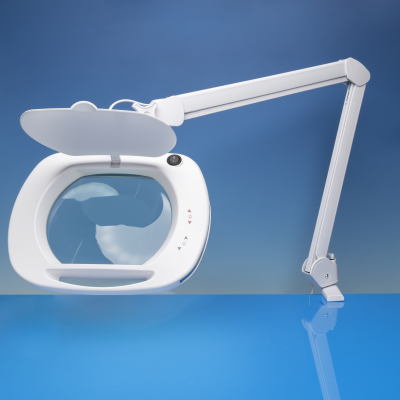 Lightcraft Wide Lens LED Magnifier Lamp with Dual Dimmer