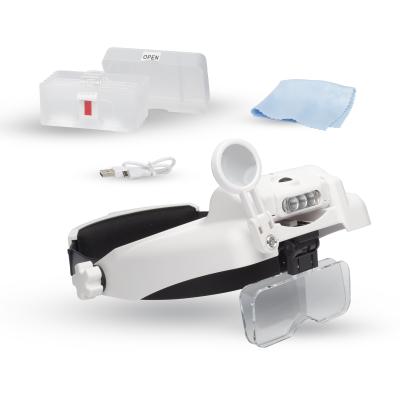 Lightcraft Professional LED  Headband Magnifier With Bi-Plate Magnification & Loupe