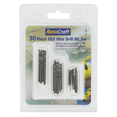 Rotacraft 30 Pce HSS Mini Drill Bit Set