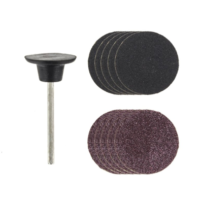 Rotacraft Rubber Pad & 5 Coarse and 5 Fine Sanding Discs