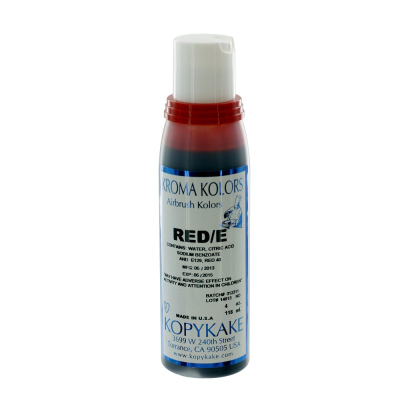 Kopykake Airbrush Colour - Red (118ml/4oz)