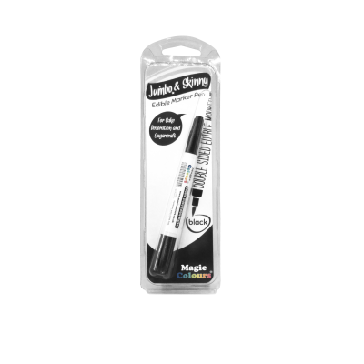 Magic Colours Edible Jumbo & Skinny Marker – Black
