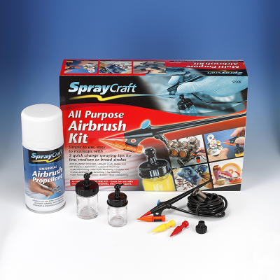 Spraycraft SP20K All Purpose Airbrush Kit