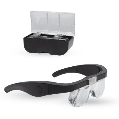 Lightcraft Pro LED Magnifier Glasses with 4 Lenses