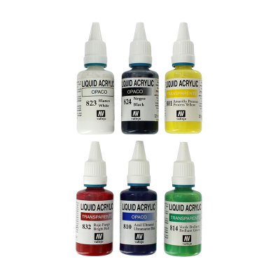 Spraycraft 6 Liquid Acrylic Colours (32ml)