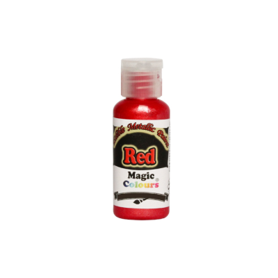 Magic Colours Metallic Paint - Red (32g)