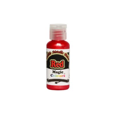 Magic Colours Metallic Paint - Red (32g)