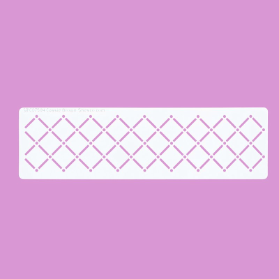 Cakecraft Quilted Border Stencil