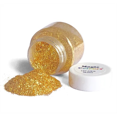 Magic Colours Bling Bling Edible Glitter (Gold) 10ml