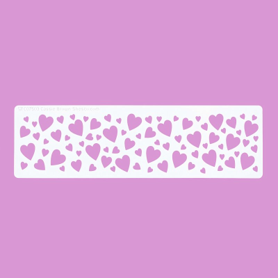 Cakecraft Hearts Border Stencil