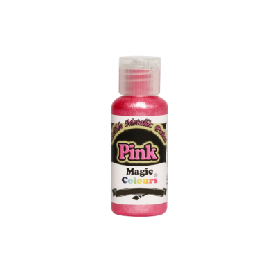 Magic Colours Metallic Paint - Pink (32g)