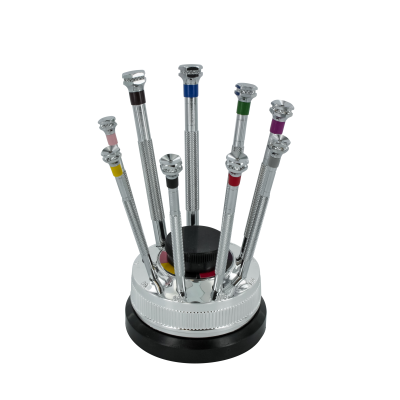 Modelcraft 9 Piece Precision Screwdriver Set with Revolving Stand