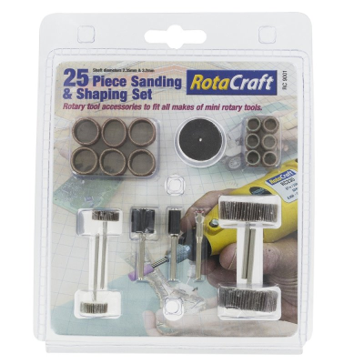 Rotacraft 25 Pce Sanding & Shaping Set