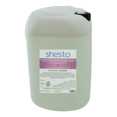 Shesto Ultrasonic Cleaner Solution For Carburettor, Machine and Engine Parts (25 Litre)