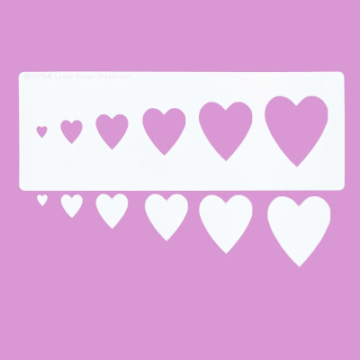 Cakecraft Hearts Stencil
