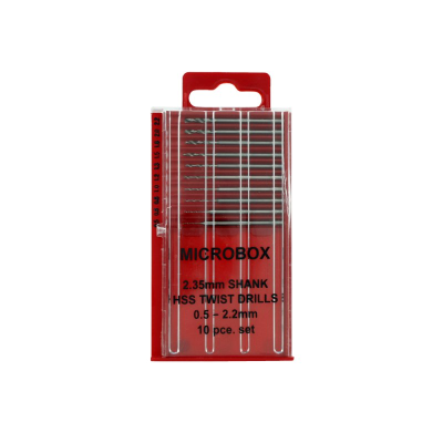 Jeweltool 10 Pce Microbox Drill (0.5 - 2.2mm)