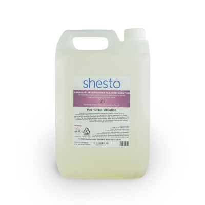 Shesto Ultrasonic Cleaner Solution For Carburettor, Machine and Engine Parts (5 Litre)