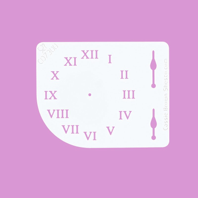 Cakecraft Clock Face Stencil