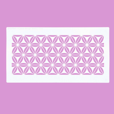 Cakecraft Geometric Flowers Stencil x 2