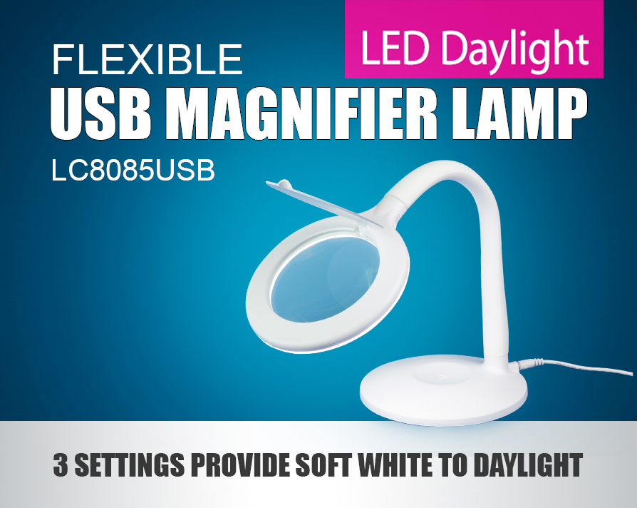 LC8085USB LED Flexible USB Magnifier Lamp